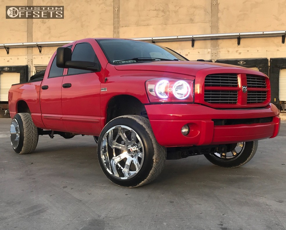 1 2006 Ram 1500 Dodge Rough Country Suspension Lift 6in Truxx Bomb Chrome