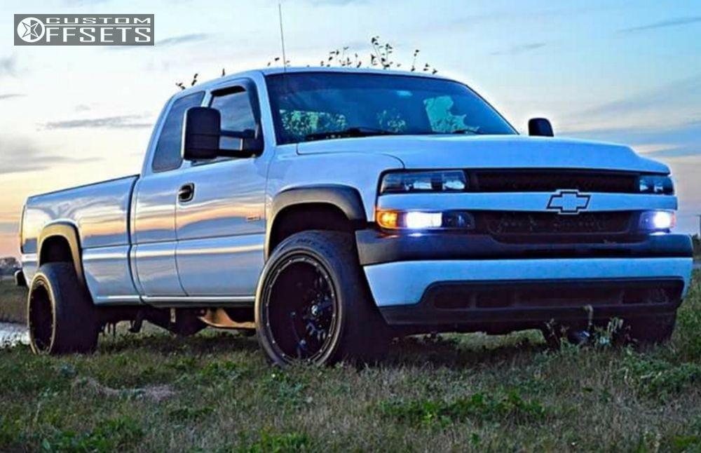 ... 1 2002 Silverado 2500 Hd Chevrolet Level 2 Drop Rear Fuel Hostage Black  Super Aggressive 3 ...