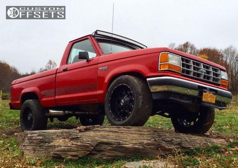 Wheel Offset 1992 Ford Ranger Slightly Aggressive Leveling