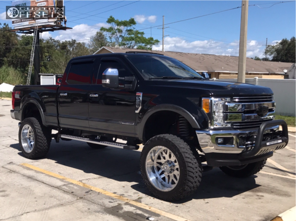 1 2017 F 250 Super Duty Ford Mcgaughys Suspension Lift 8in American Force Evo Ss Polished