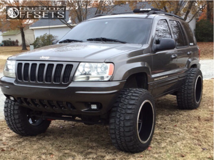 8 1999 Grand Cherokee Jeep Stock Suspension Lift 45in Vision Cannibal Black
