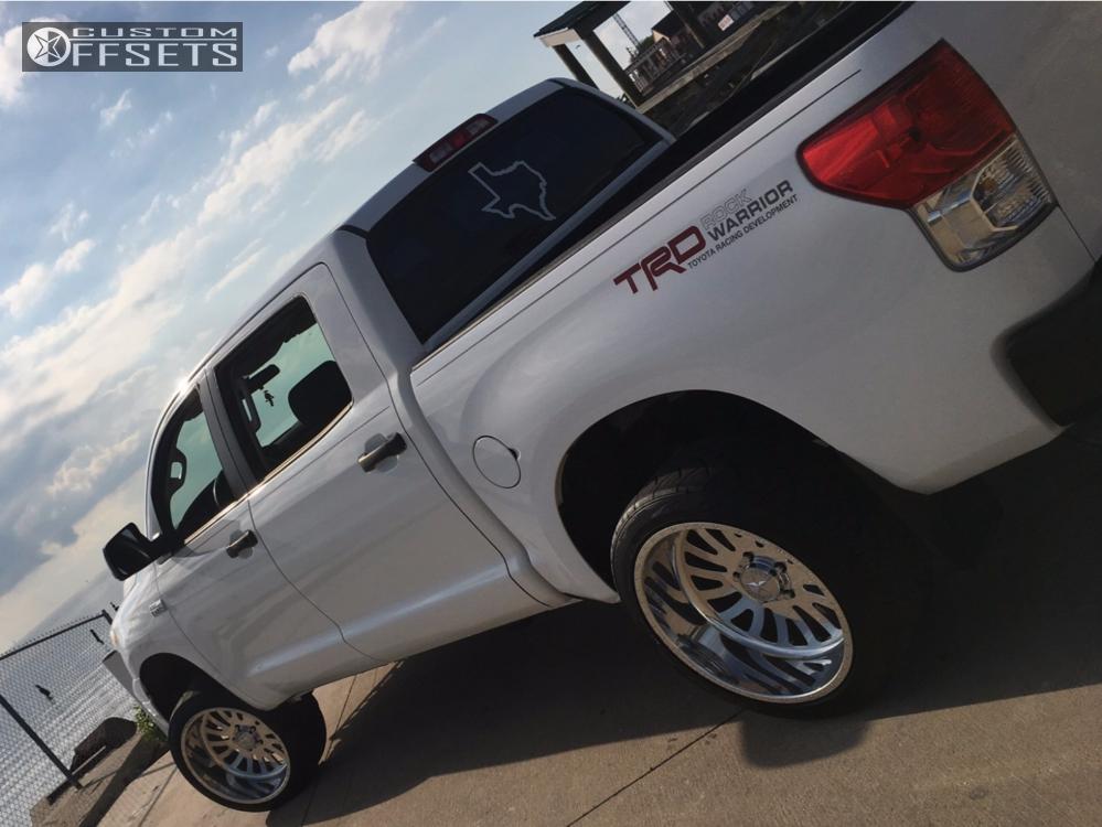 3 2010 Tundra Toyota Readylift Leveling Kit American Force Octane Ss Polished