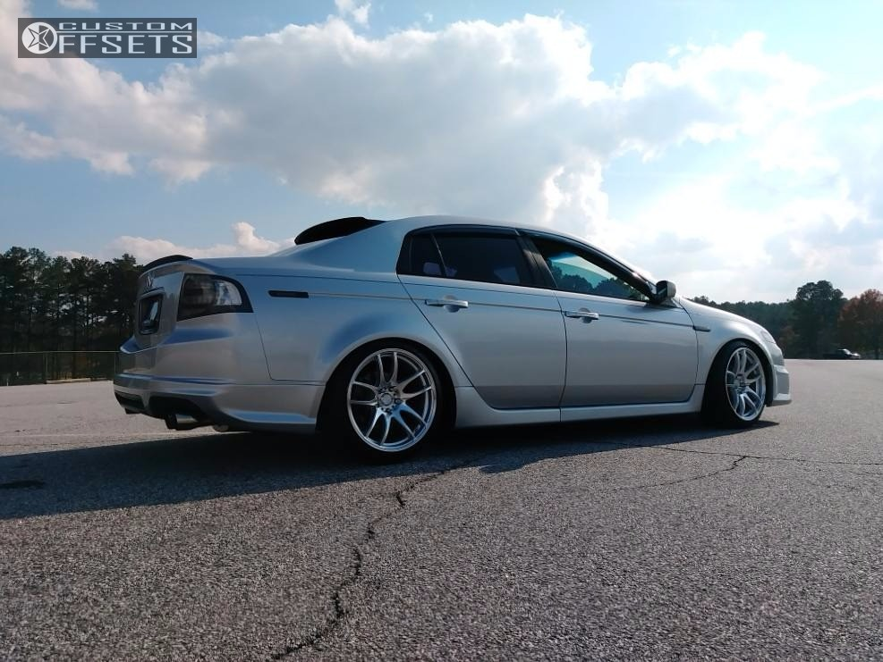 Wheel Offset 2006 Acura Tl Flush Coilovers