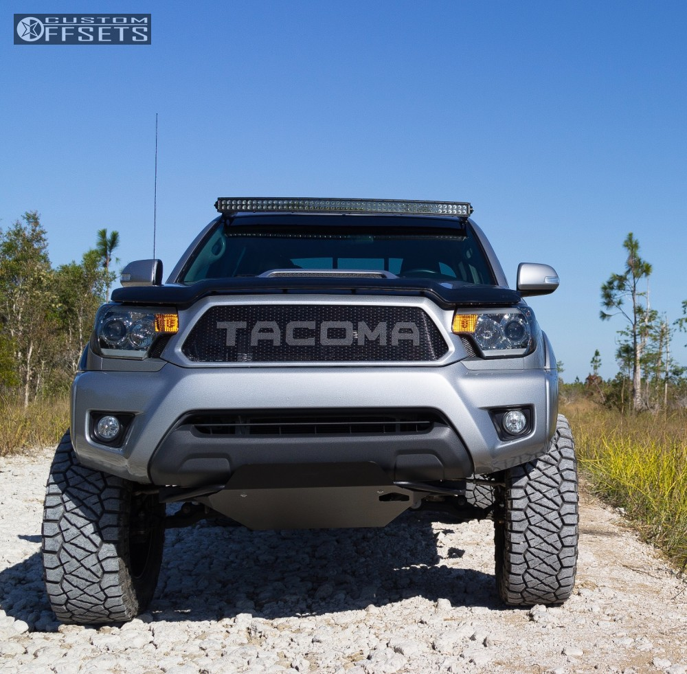 11 2015 Tacoma Toyota Maxtrac Suspension Lift 65in American Racing Atx Mojave Ii Black