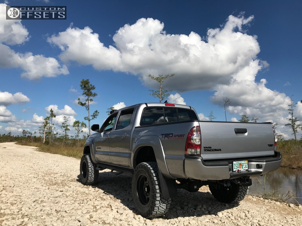 13 2015 Tacoma Toyota Maxtrac Suspension Lift 65in American Racing Atx Mojave Ii Black