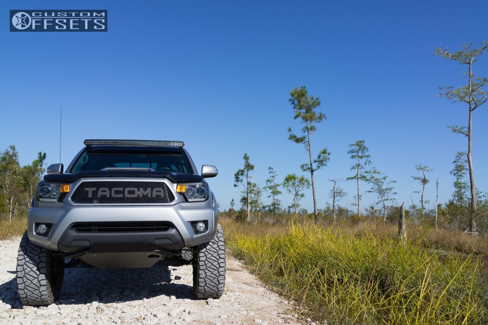 15 2015 Tacoma Toyota Maxtrac Suspension Lift 65in American Racing Atx Mojave Ii Black