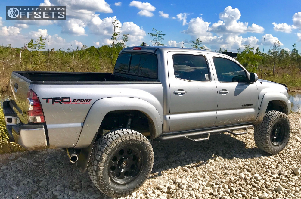 4 2015 Tacoma Toyota Maxtrac Suspension Lift 65in American Racing Atx Atx 199 Mojave 2 Black