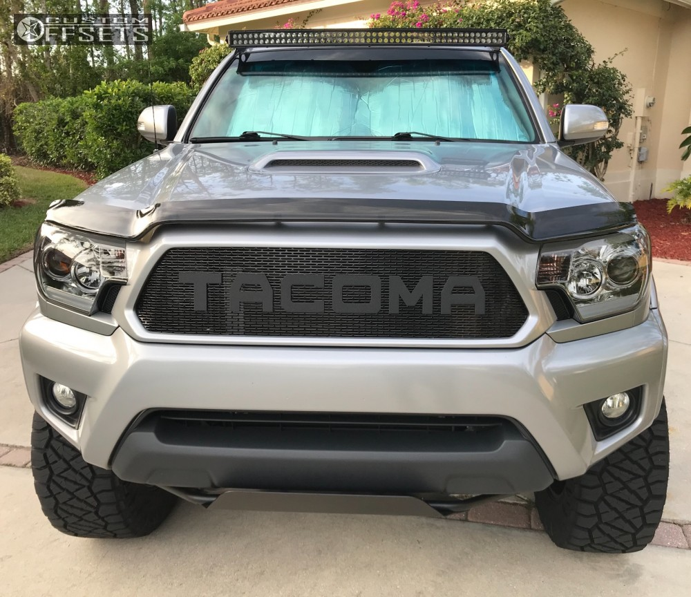 7 2015 Tacoma Toyota Maxtrac Suspension Lift 65in American Racing Atx Atx 199 Mojave 2 Black