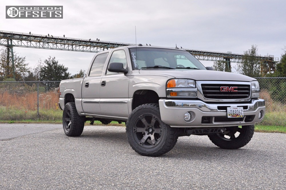 12 2005 Sierra 1500 Gmc Rough Country Suspension Lift 4in Fuel Beast Bronze