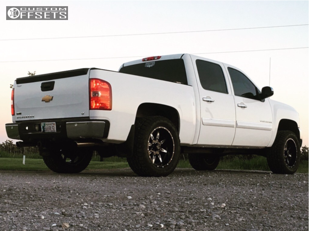 4 2012 K1500 Chevrolet Rough Country Leveling Kit Tuff T15 Black