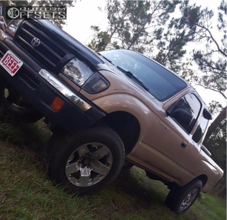 1 1998 Tacoma Toyota Toytec Lifts Suspension Lift 3in Xd Rockstar Chrome