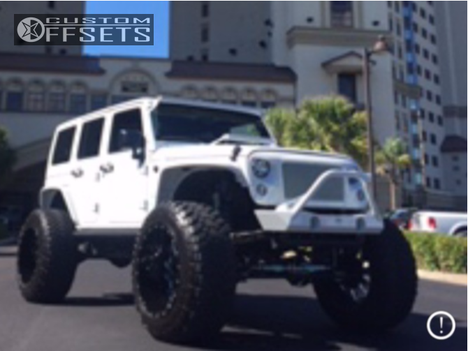 2016 Jeep Wrangler Fuel Cleaver Rough Country Suspension Lift 6 Custom Offsets