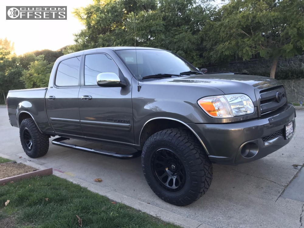 1 2006 Tundra Toyota Tuff Country Leveling Kit Fuel Vector Black