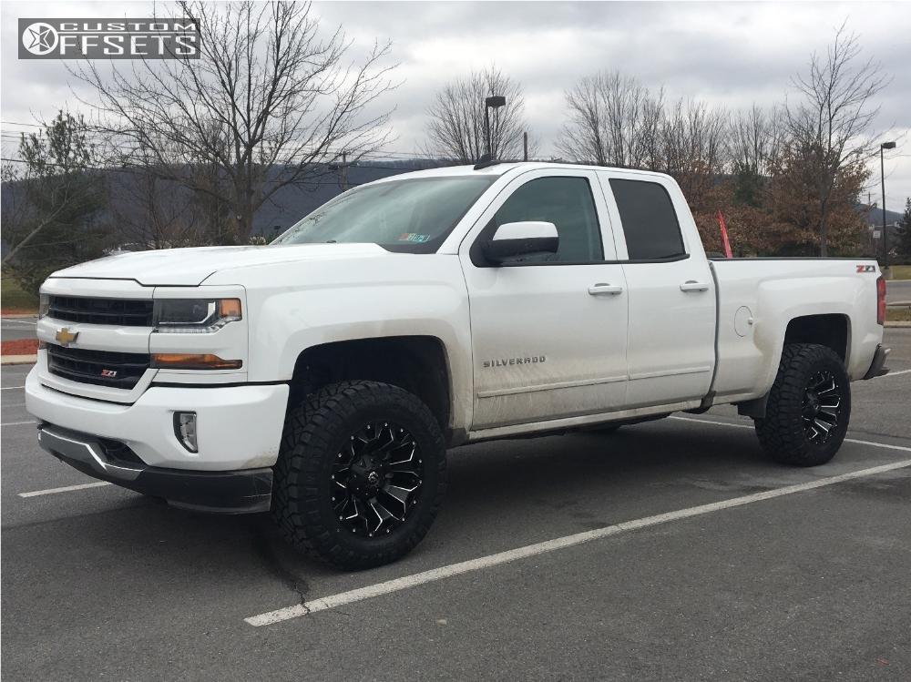 1 2017 Silverado 1500 Chevrolet Rough Country Leveling Kit Fuel Assault Black