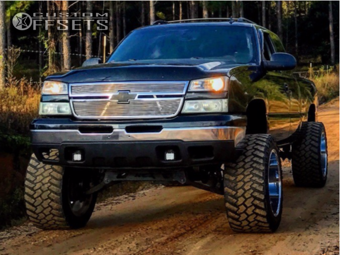 1 2006 Silverado 1500 Chevrolet Rough Country Suspension Lift 6in Fuel Hostage Chrome