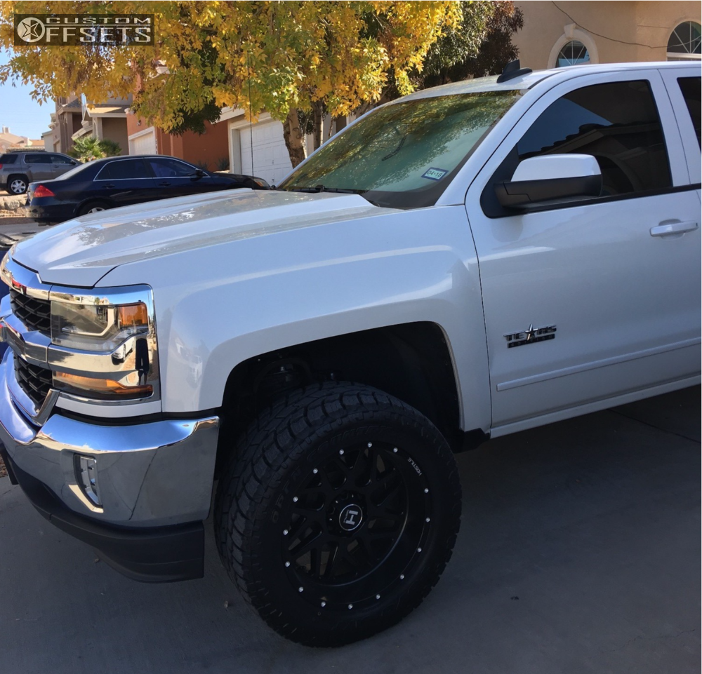 3 2016 Silverado 1500 Chevrolet Rough Country Suspension Lift 4in Hostile 108 Black
