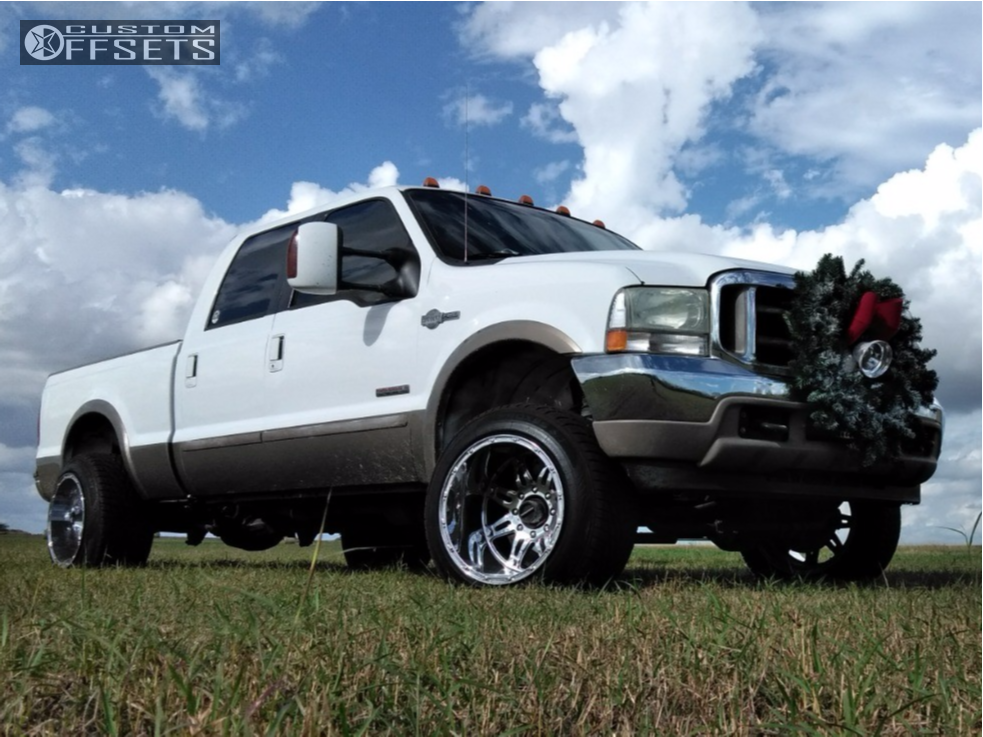 1 2004 F 250 Ford Rough Country Leveling Kit Fuel Hostage Chrome