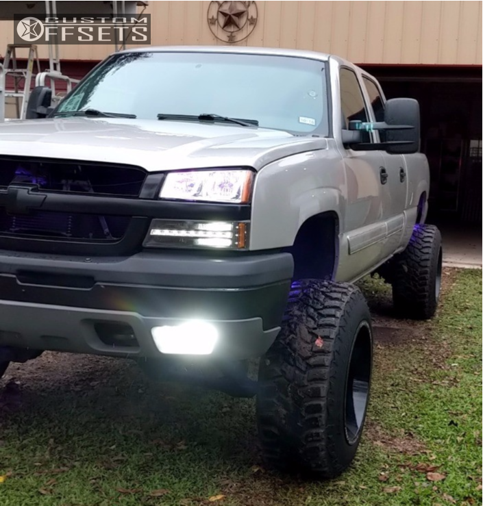12 2005 Silverado 1500 Hd Classic Chevrolet Zone Suspension Lift 6in Fuel Turbo Machined Black
