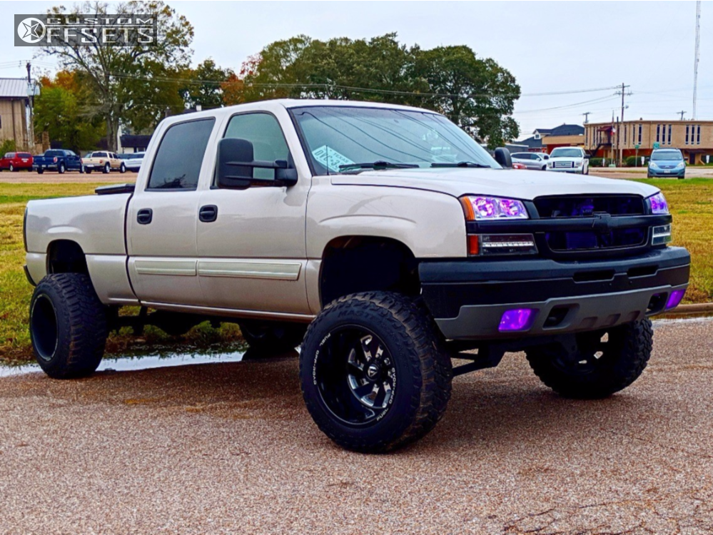 13 2005 Silverado 1500 Hd Classic Chevrolet Zone Suspension Lift 6in Fuel Turbo Machined Black