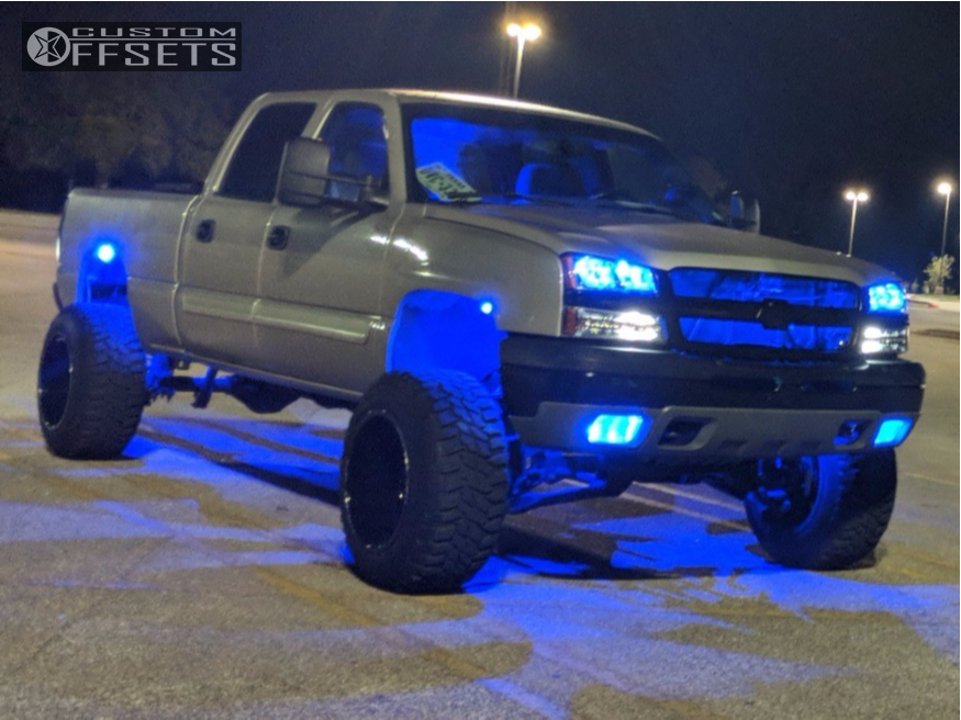 16 2005 Silverado 1500 Hd Classic Chevrolet Zone Suspension Lift 6in Fuel Turbo Machined Black