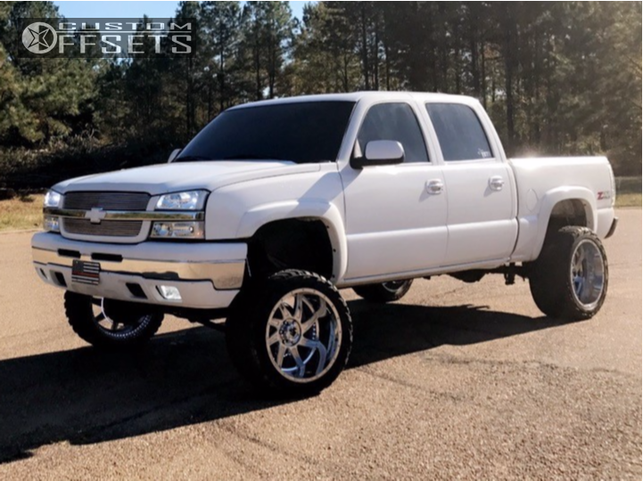 1 2005 Silverado 1500 Chevrolet Rough Country Suspension Lift 6in American True Vortex Chrome