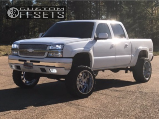 3 2005 Silverado 1500 Chevrolet Rough Country Suspension Lift 6in American True Vortex Chrome
