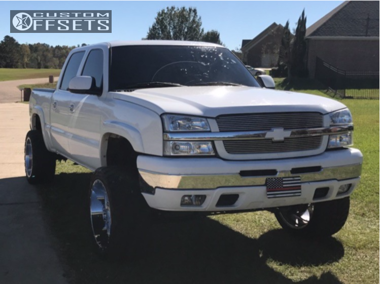 5 2005 Silverado 1500 Chevrolet Rough Country Suspension Lift 6in American True Vortex Chrome