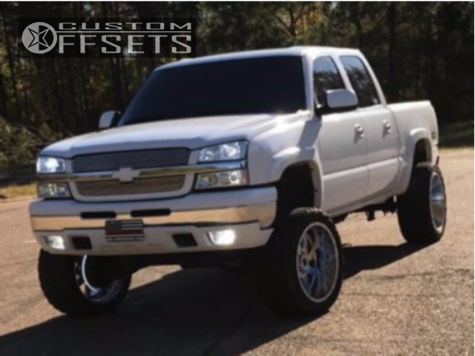 7 2005 Silverado 1500 Chevrolet Rough Country Suspension Lift 6in American True Vortex Chrome