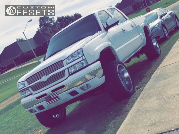 8 2005 Silverado 1500 Chevrolet Rough Country Suspension Lift 6in American True Vortex Chrome