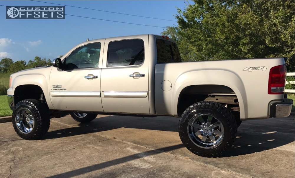 2 2009 Sierra 1500 Gmc Rough Country Suspension Lift 75in Moto Metal Mo962 Chrome
