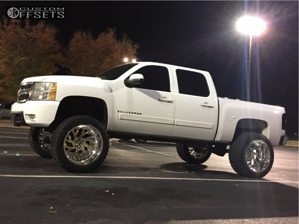 1 2008 Silverado 1500 Chevrolet Mcgaughys Suspension Lift 9in Specialty Forged Sf022 Polished