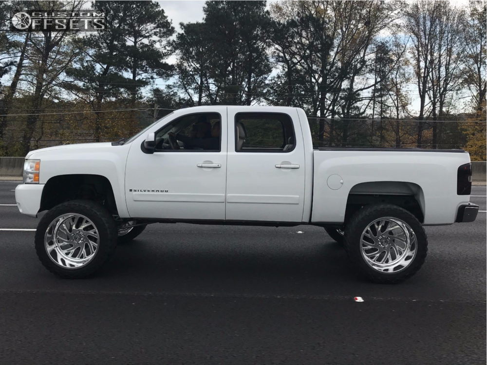 13 2008 Silverado 1500 Chevrolet Mcgaughys Suspension Lift 9in Specialty Forged Sf022 Polished