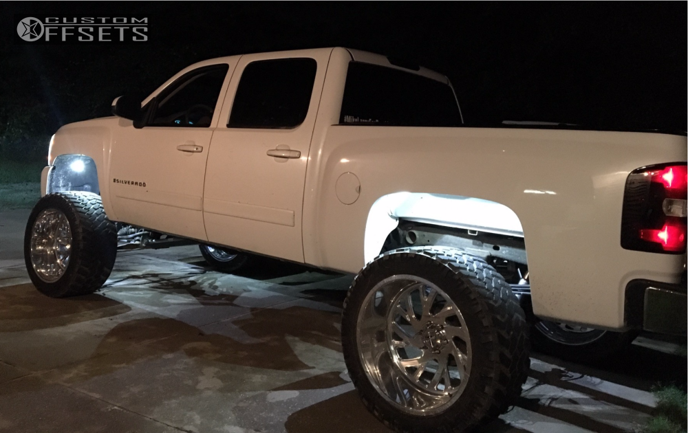 4 2008 Silverado 1500 Chevrolet Mcgaughys Suspension Lift 9in Specialty Forged Sf022 Polished