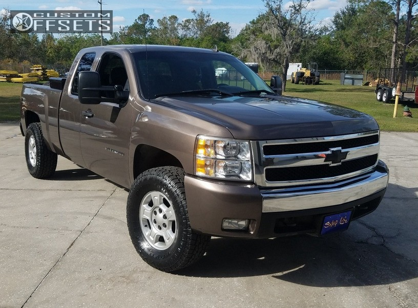 1 2008 Silverado 1500 Chevrolet Rough Country Leveling Kit Chevy Stock Silver