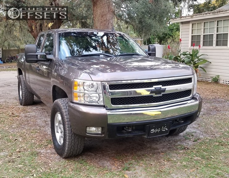 15 2008 Silverado 1500 Chevrolet Rough Country Leveling Kit Chevy Stock Silver
