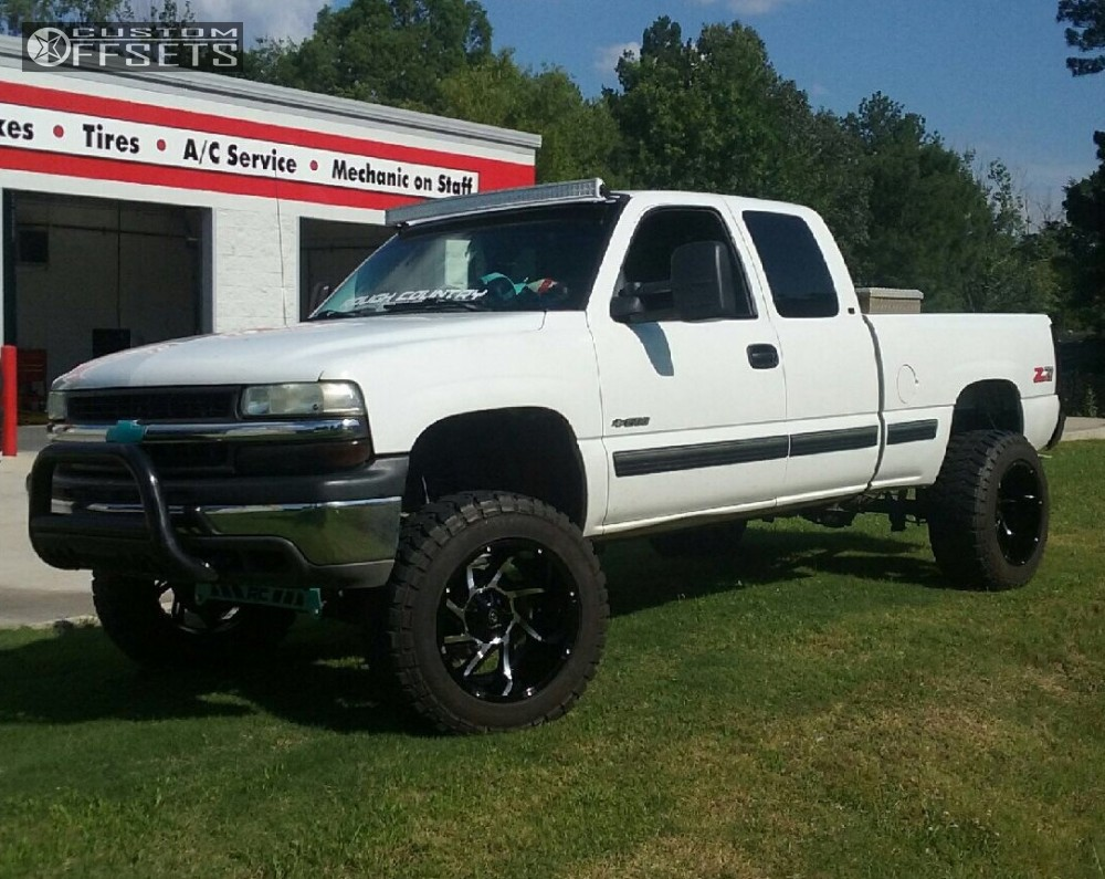 1 2000 Silverado 1500 Chevrolet Rough Country Suspension Lift 6in Vision Prowler Machined Black