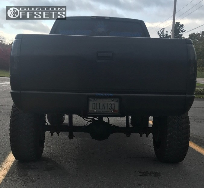 3 1995 K1500 Chevrolet Rough Country Suspension Lift 6in Havok H109 Machined Black