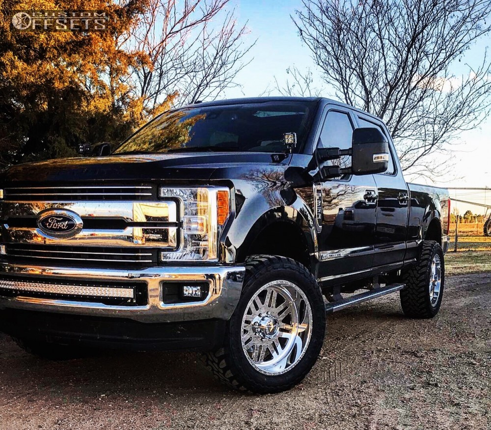 wheel offset 2017 ford f 350 super duty aggressive 1 outside fender stock. Black Bedroom Furniture Sets. Home Design Ideas