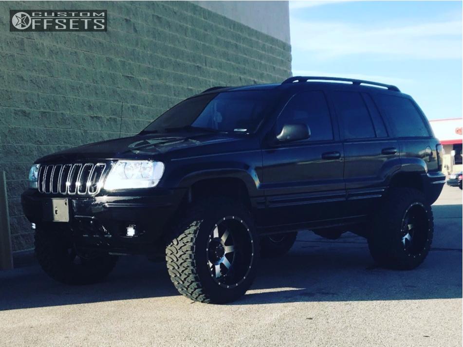 1 2002 Grand Cherokee Jeep Zone Suspension Lift 4in Gear Alloy Big Block  Machined Black ...