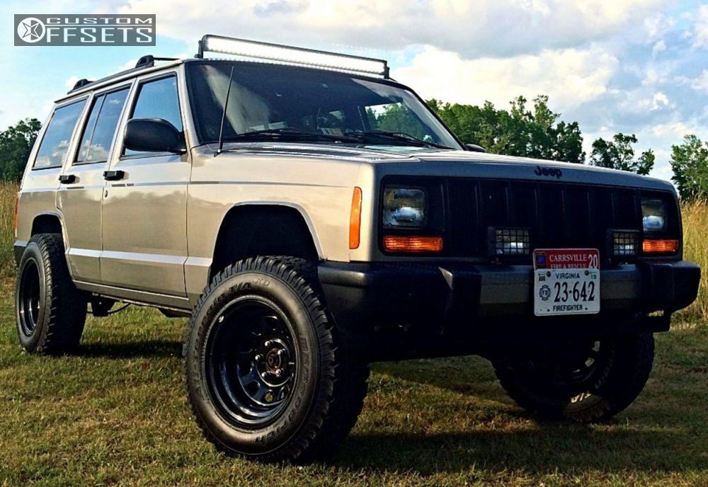 Wheel Offset 2001 Jeep Cherokee Aggressive 1 Outside Fender