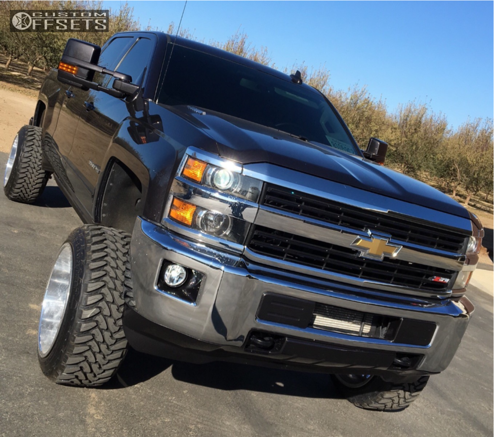 1 2015 Silverado 2500 Hd Chevrolet Rough Country Suspension Lift 5in American Force Liberty Ss Chrome