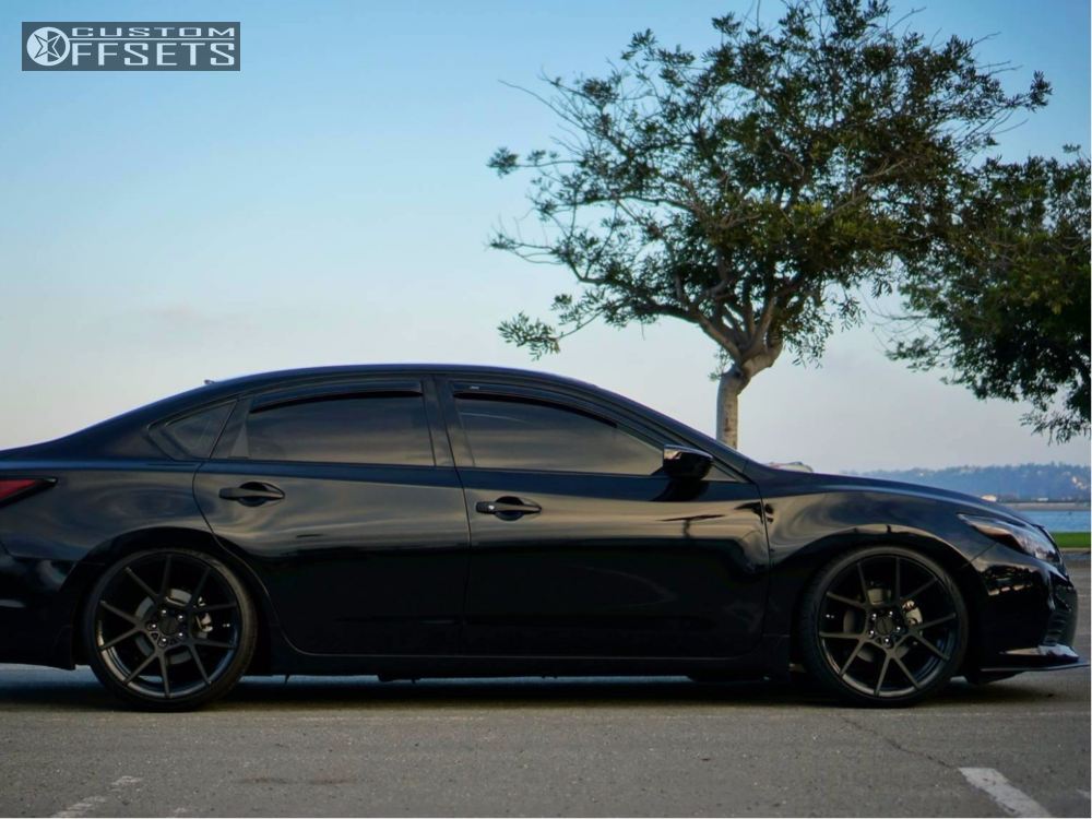 wheel offset 2016 nissan altima flush coilovers custom offsets1 2016 altima nissan bc racing coilovers rotiform kps black
