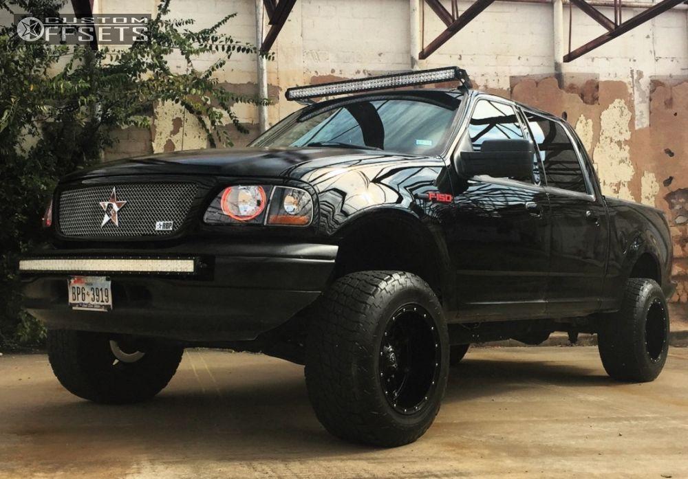 1 2002 F 150 Ford Suspension Lift 6 Fuel Hostage Black Aggressive 1 Outside Fender
