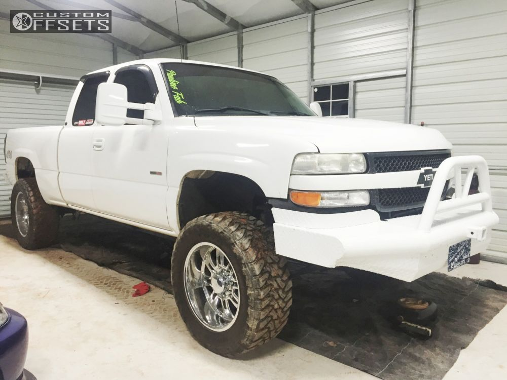 1 2004 Silverado 1500 Chevrolet Leveling Kit Eagle Alloy 511 Hined Accents Aggressive Outside Fender