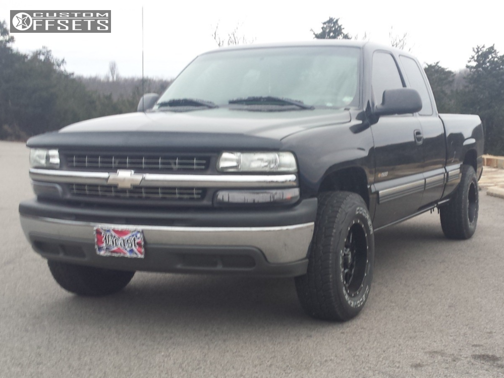 1 2002 Silverado 1500 Chevrolet Rough Country Suspension Lift 3in Xd Xd820 Matte Black