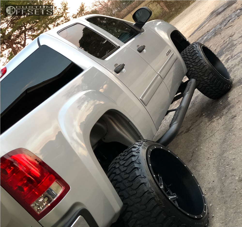 10 2011 Sierra 1500 Gmc Rough Country Suspension Lift 75in American Truxx Other Machined Black