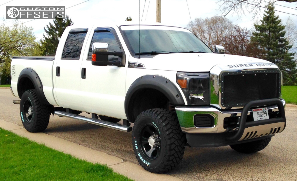 1 2011 F 250 Super Duty Ford Rough Country Suspension Lift 3in Dick Cepek Dc 2 Black