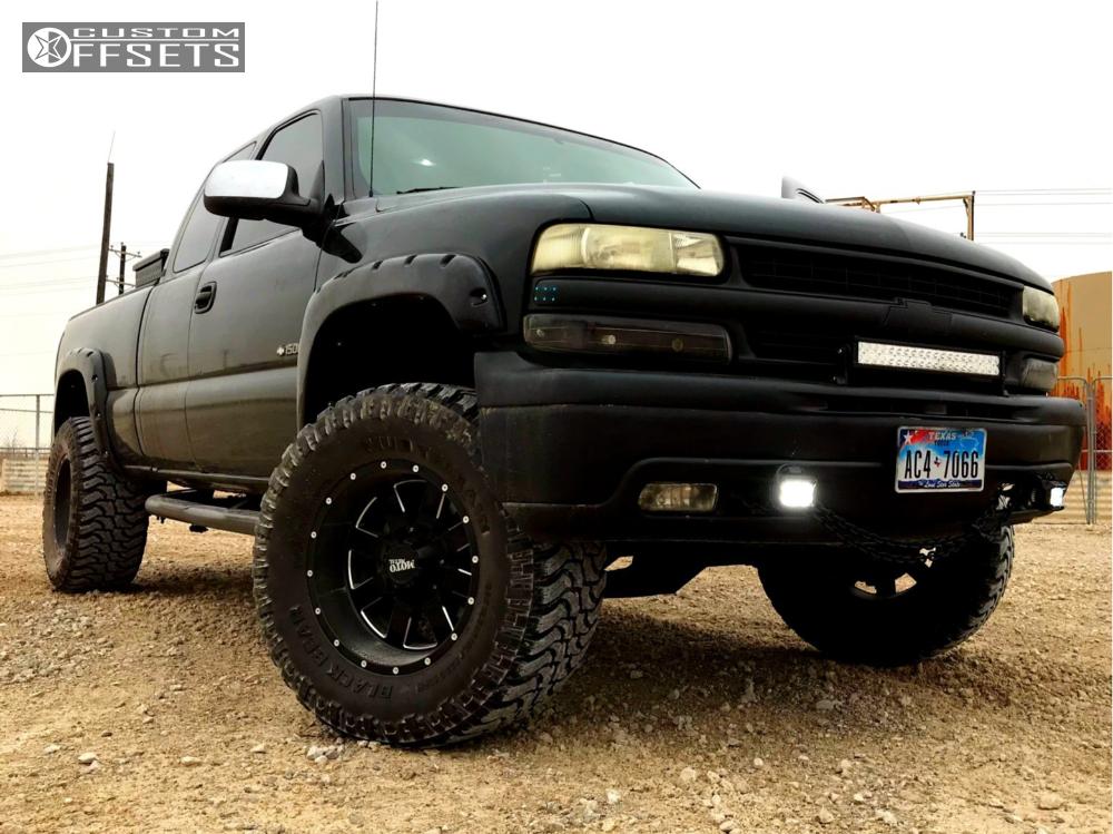 1 2002 Silverado 1500 Chevrolet Rough Country Suspension Lift 6in Moto Metal Mo962 Black