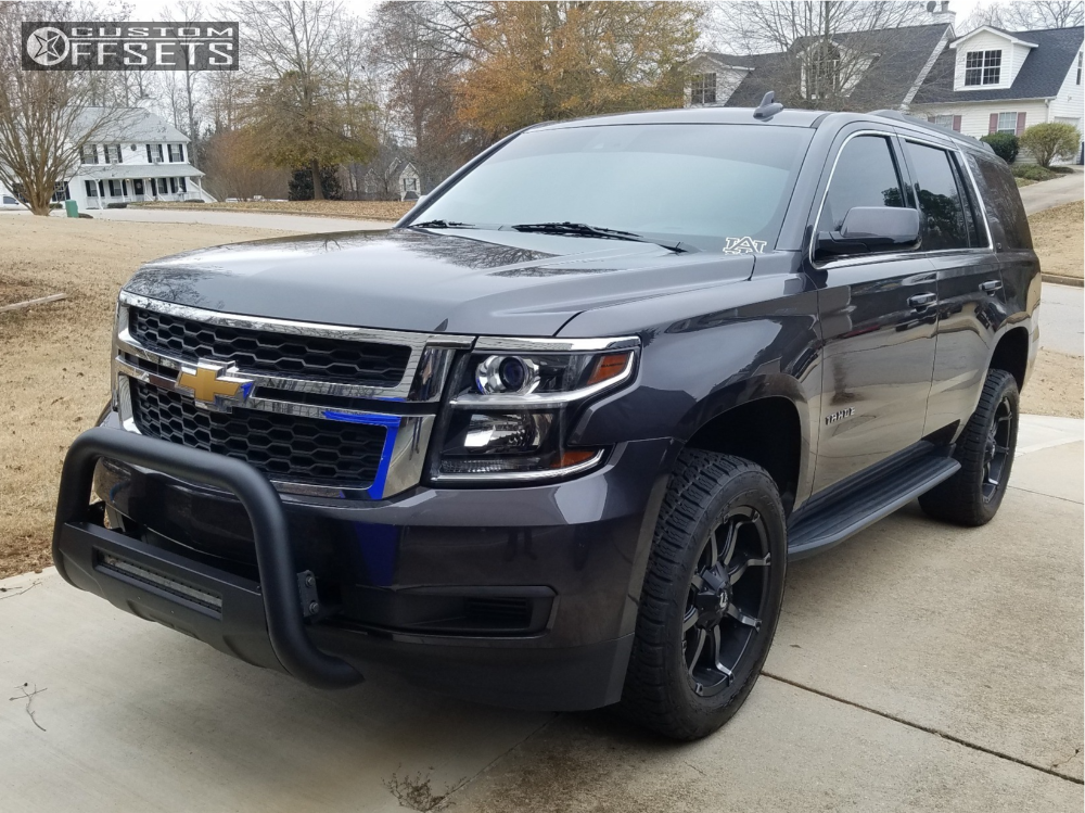 1 2017 Tahoe Chevrolet Readylift Suspension Lift 25in Fuel R Gunmetal