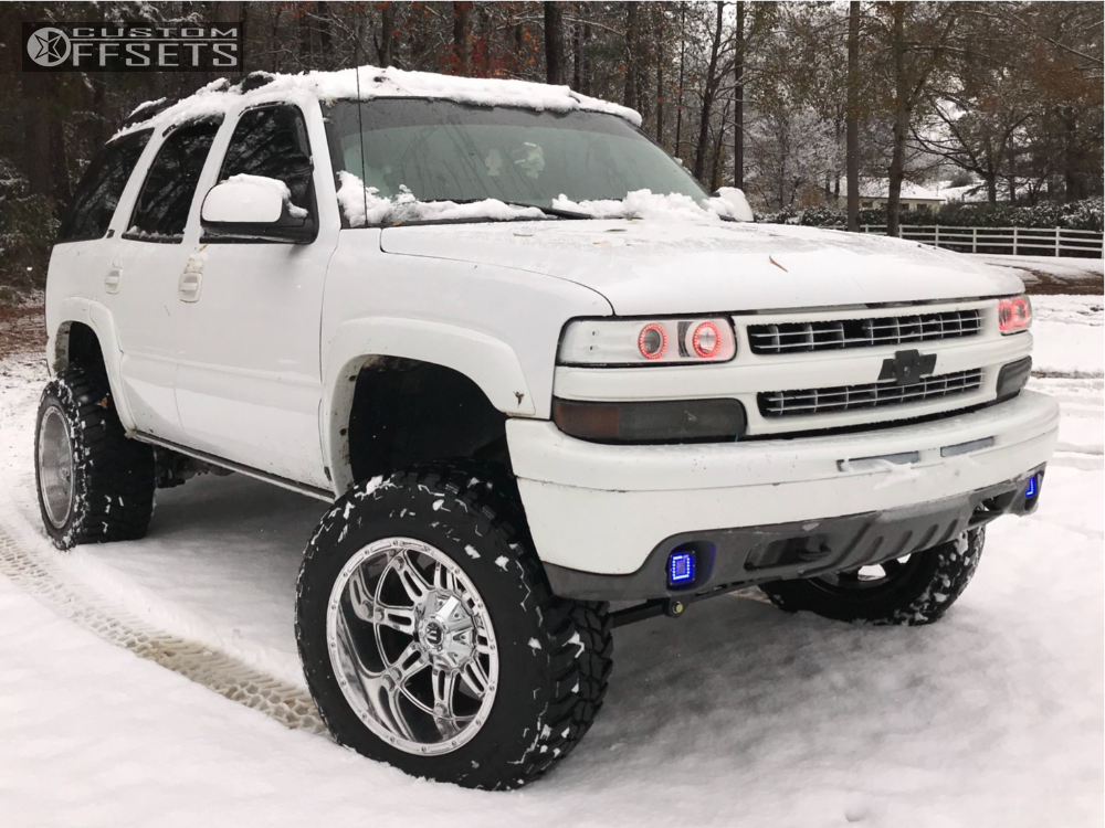1 2004 Tahoe Chevrolet Rough Country Suspension Lift 8in Fuel Hostage Chrome